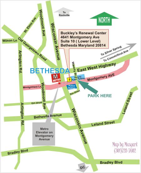 Convenient to Bethesda Metro, Next to Waverly Street Public Parking Garage